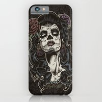 iPhone & iPod Case featuring Day of The Dead Woman by Brewer Arts