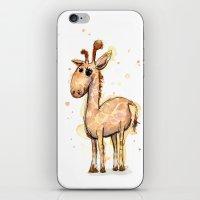 Giraffe Funny Watercolor… iPhone & iPod Skin