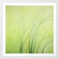 Swaying Grasses (with Te… Art Print