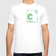 Carbon neutral White SMALL Mens Fitted Tee