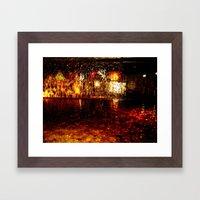 Fire Fountain Framed Art Print