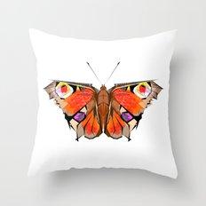 Geobutterfly Throw Pillow