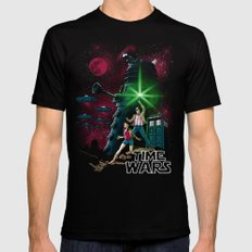 Time Wars Black Mens Fitted Tee SMALL