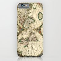 Old Map Of World Hemisph… iPhone 6 Slim Case