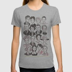 Downton Abbey Womens Fitted Tee Athletic Grey SMALL