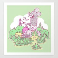 Art Print featuring Island Paradise by James Murphy