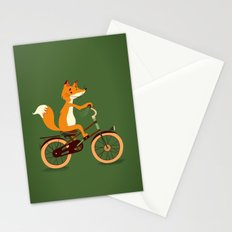 Little fox on the bike Stationery Cards