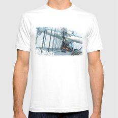 All is Lost White Mens Fitted Tee SMALL