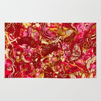 Red hot day Species Rug