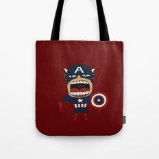 Screaming Captain America Tote Bag