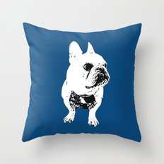 George the cutest French Bulldog Throw Pillow