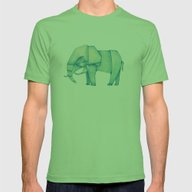 Paper Elephant Mens Fitted Tee Grass SMALL