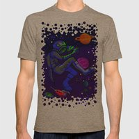 Dragonflies and Astronauts  Mens Fitted Tee Tri-Coffee SMALL