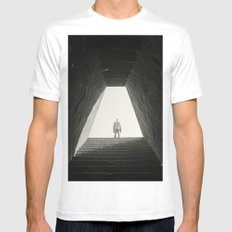 Untitled White Mens Fitted Tee SMALL