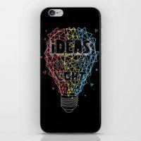 Ideas Need Light (black … iPhone & iPod Skin