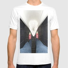 LOOSE DIAMONDS Mens Fitted Tee White SMALL