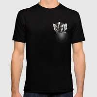 POCKET BADGER Mens Fitted Tee Black SMALL