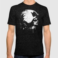 Dark Moon Mens Fitted Tee Tri-Black SMALL