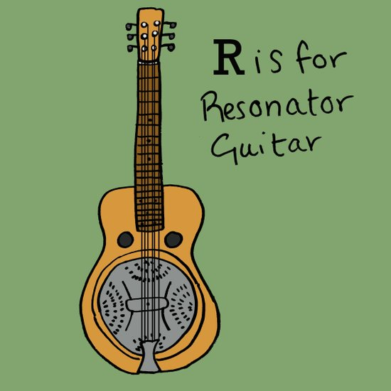 R is for Resonator Guitar Canvas Print