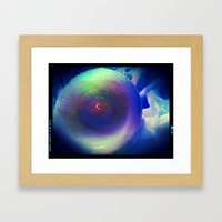 Glossy Stare with a Touch of Red Framed Art Print