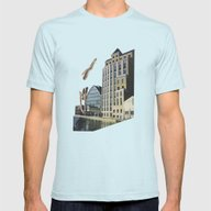 Naked Mens Fitted Tee Light Blue SMALL