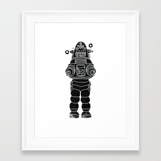 ROBBY THE ROBOT Framed Art Print