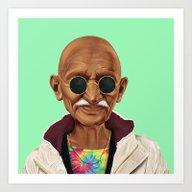 Art Print featuring Hipstory -  Mahatma Gand… by Amit Shimoni