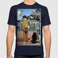 VULNERABLE CHICKENS Mens Fitted Tee Navy SMALL