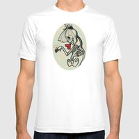 Skull Bride Mens Fitted Tee White SMALL