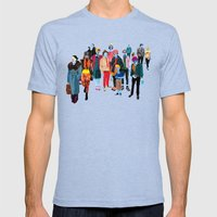 Pandilla Mens Fitted Tee Tri-Blue SMALL