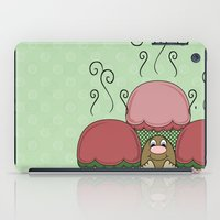 Cute Monster With Red And Green Frosted Cupcakes iPad Case