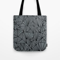 Ab Fan Grey and Black Tote Bag