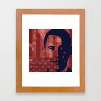 Heads of State: Barack Obama Framed Art Print
