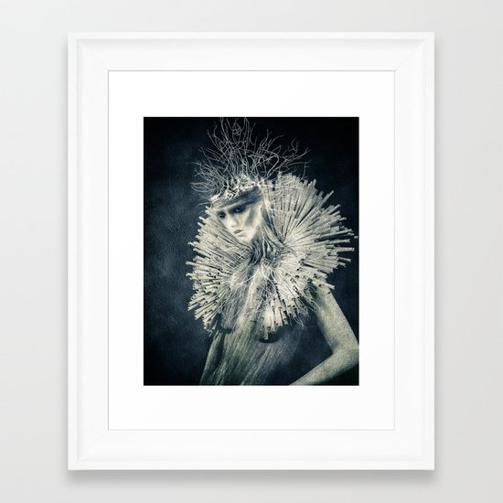 Dark Portrait III  (colour option) Framed Art Print