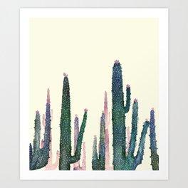 Art Print - cactus water color cut - franciscomffonseca