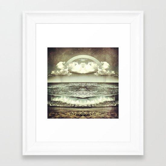 Adventure Awaits Framed Art Print
