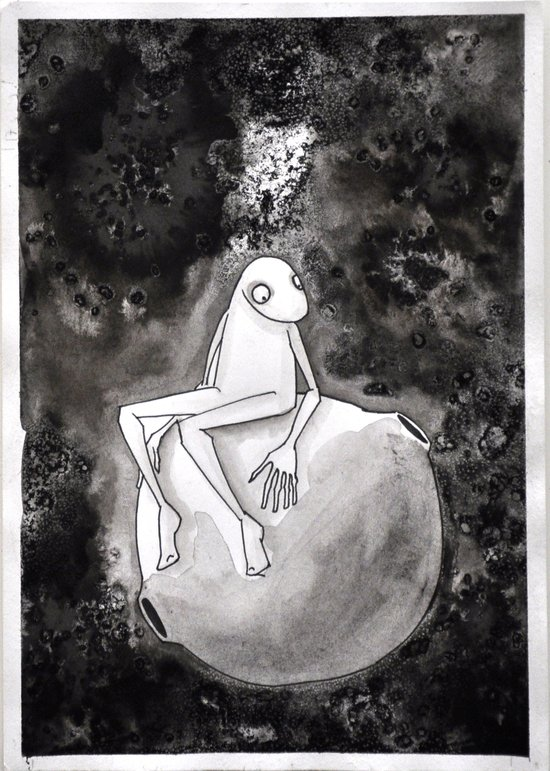 Omino Luna be alone Art Print