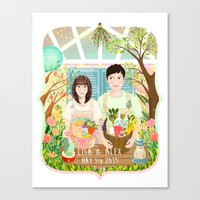 Wedding Invitation Desig… Canvas Print