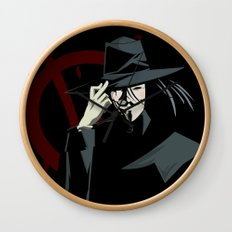 V for Vendetta (e1) Wall Clock