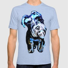 Blue Schnauzer Mens Fitted Tee Tri-Blue SMALL