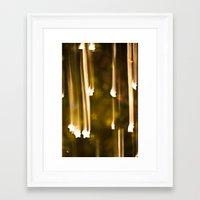 Bokeh Of Stars Framed Art Print