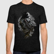 Raven Haired Mens Fitted Tee Tri-Black SMALL
