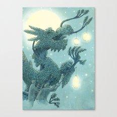 The Night Gardener - The Dragon Tree, Night Canvas Print