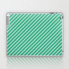 Diagonal Lines (White/Mint) Laptop & iPad Skin