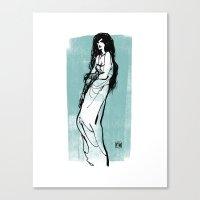 Darkness Girl Canvas Print