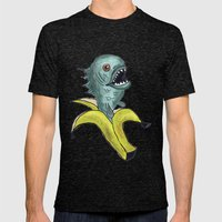 piranha banana Mens Fitted Tee Tri-Black SMALL