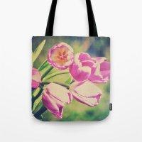 Spring Botanical - Bold Tulips Still Life Tote Bag