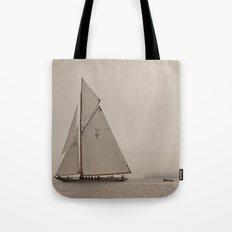 Sail with Island Fog Tote Bag