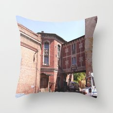 Historical Factories Throw Pillow