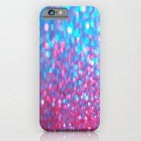 Sky Blue Pink Sparkle Gl… iPhone 6 Slim Case